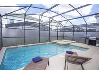 Private pool in screened patio thumb