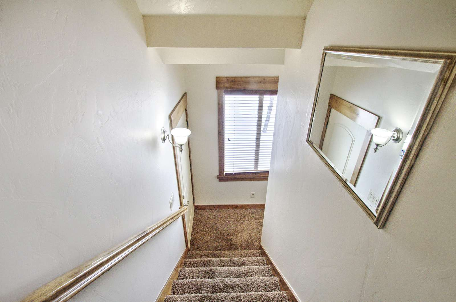 Stairs to basement floor