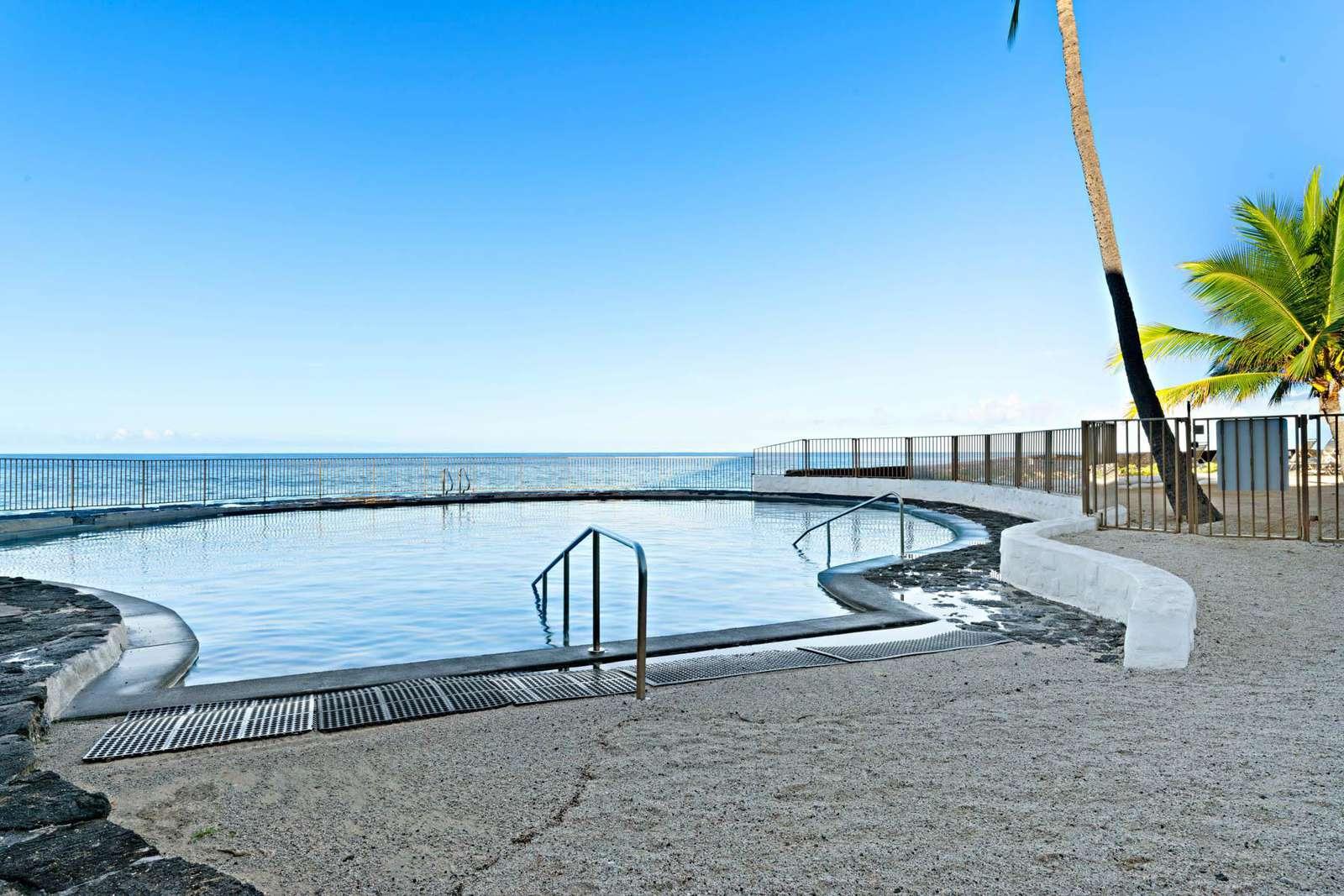 Oceanfront salt water pool.