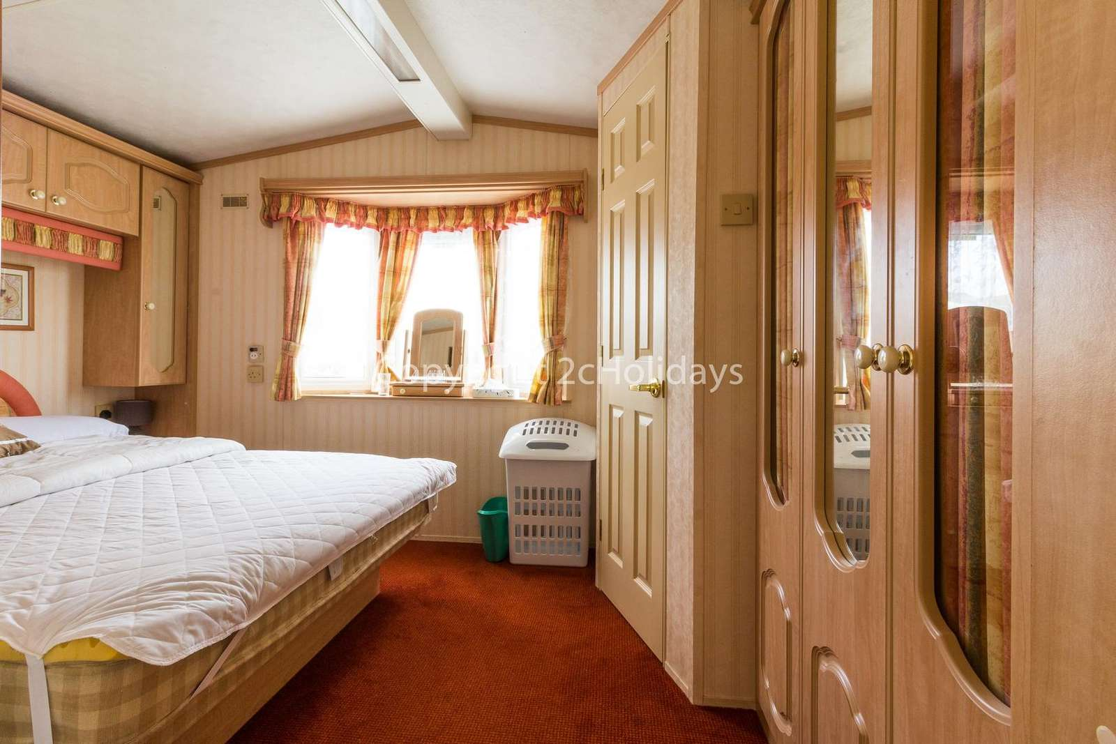 You can find plenty of storage in this master bedroom!