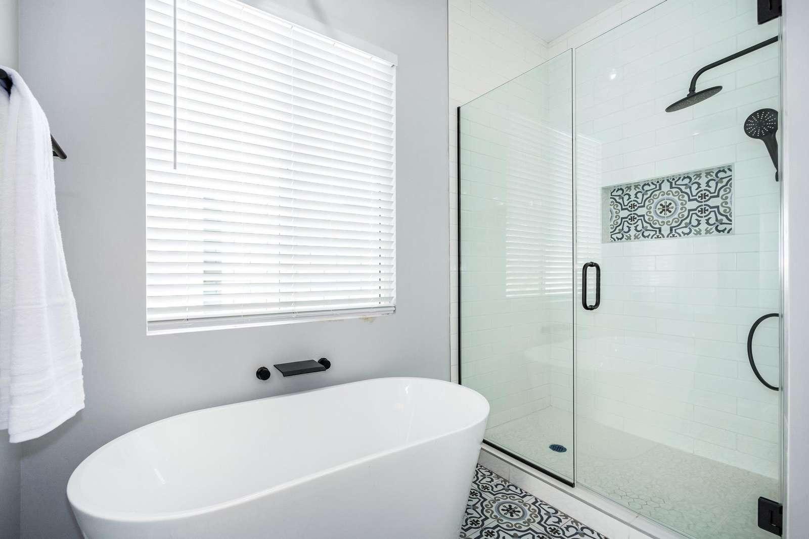 2nd Master Tub - Walk in Shower.