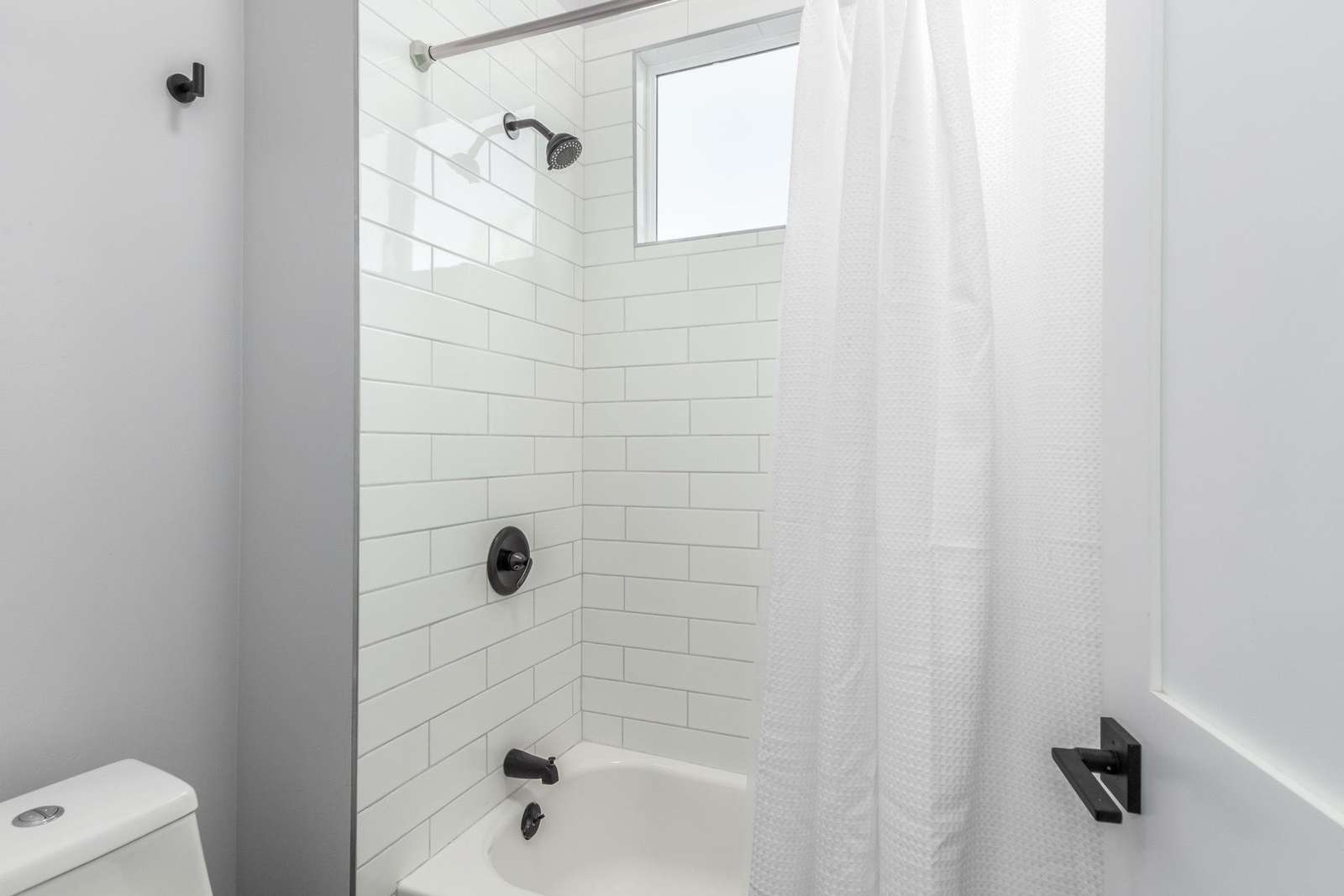 Jack & Jill Toilet - Bath Tub Shower Closet.
