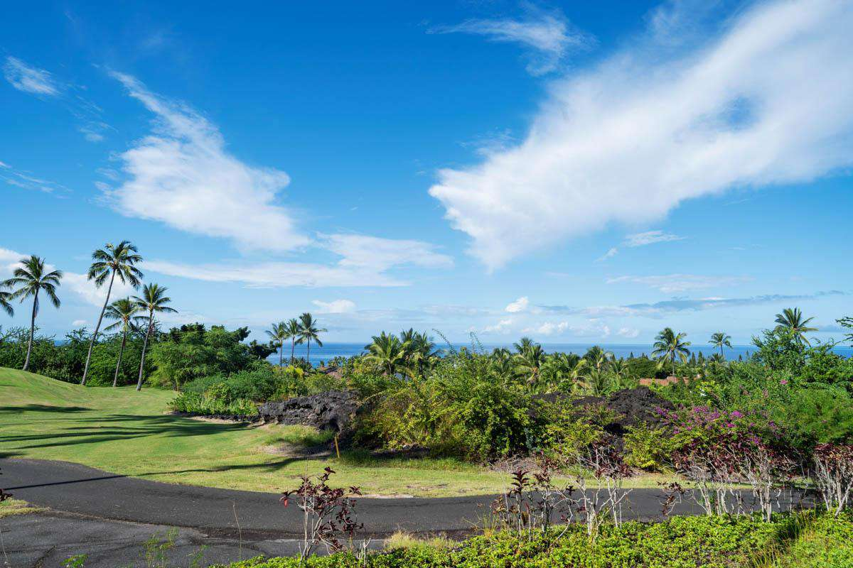 View of golf course & ocean.