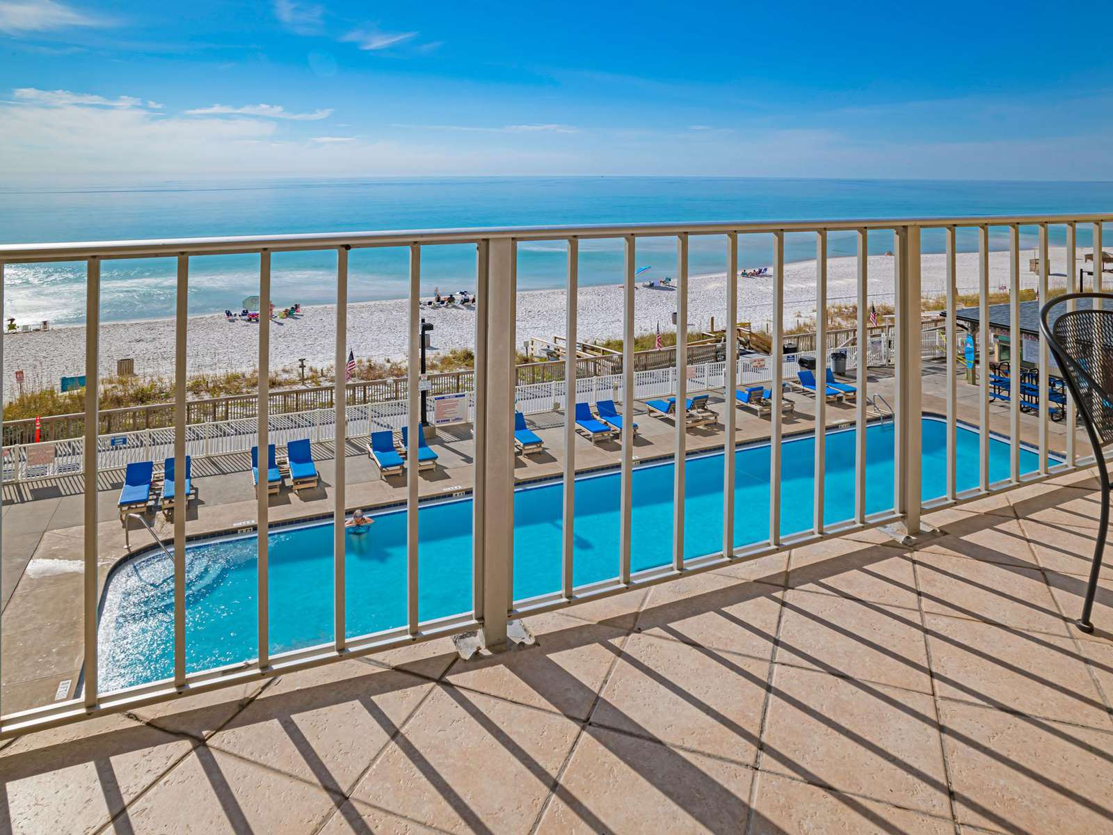 The view from your private furnished balcony!