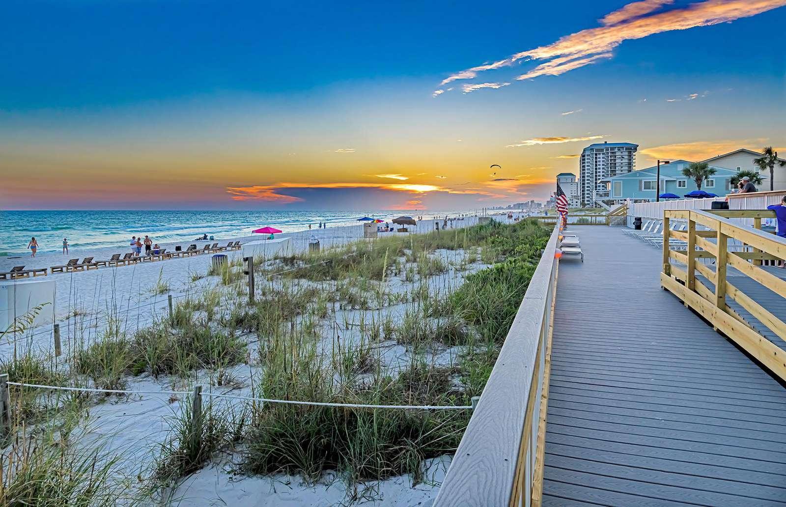 Catch a STUNNING sunset at the beach!