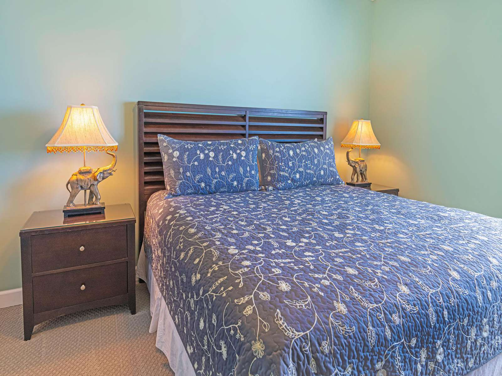The first of 3 bedrooms is equipped with a king bed!