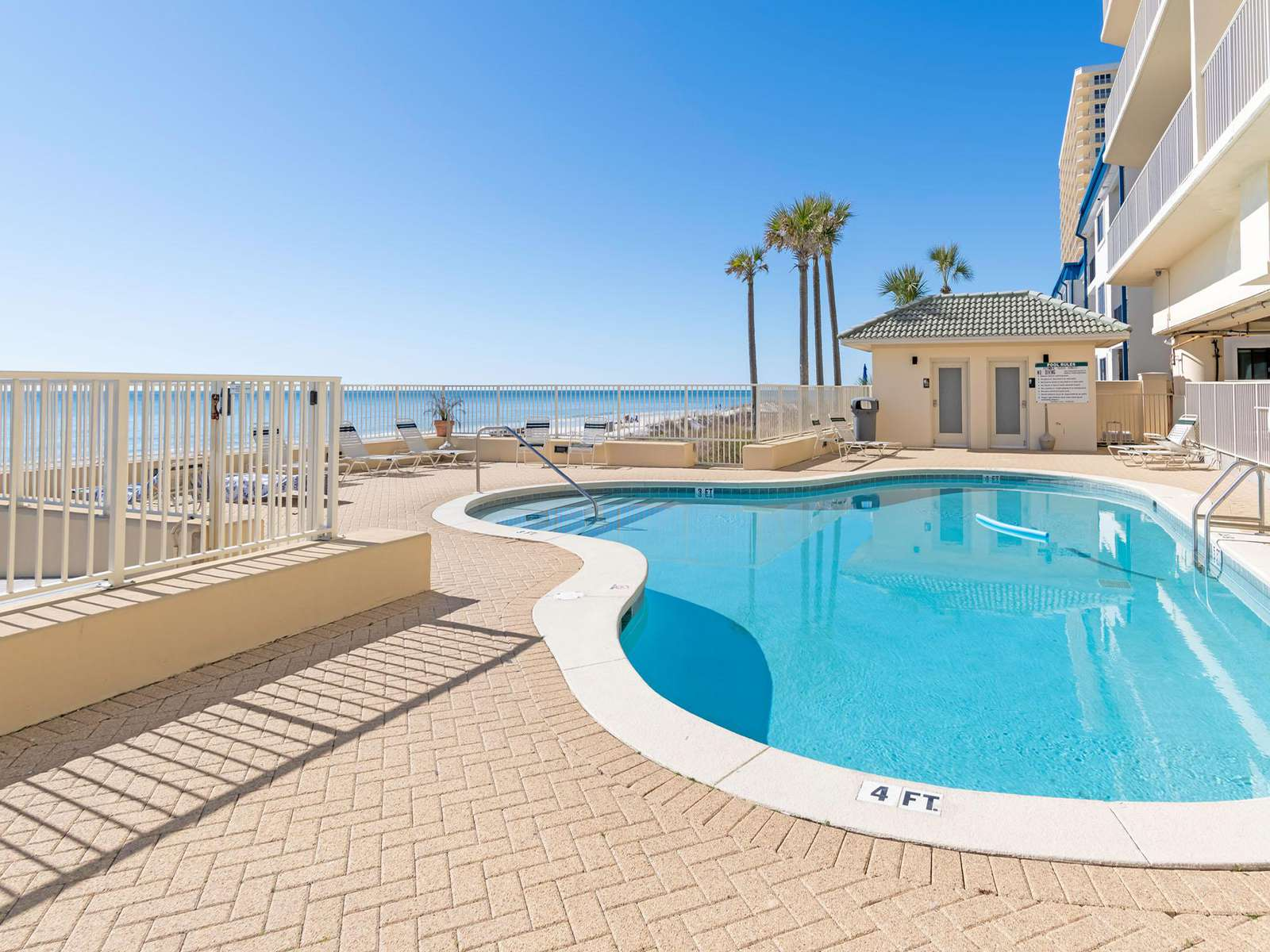 Seasonally heated pool and restrooms!