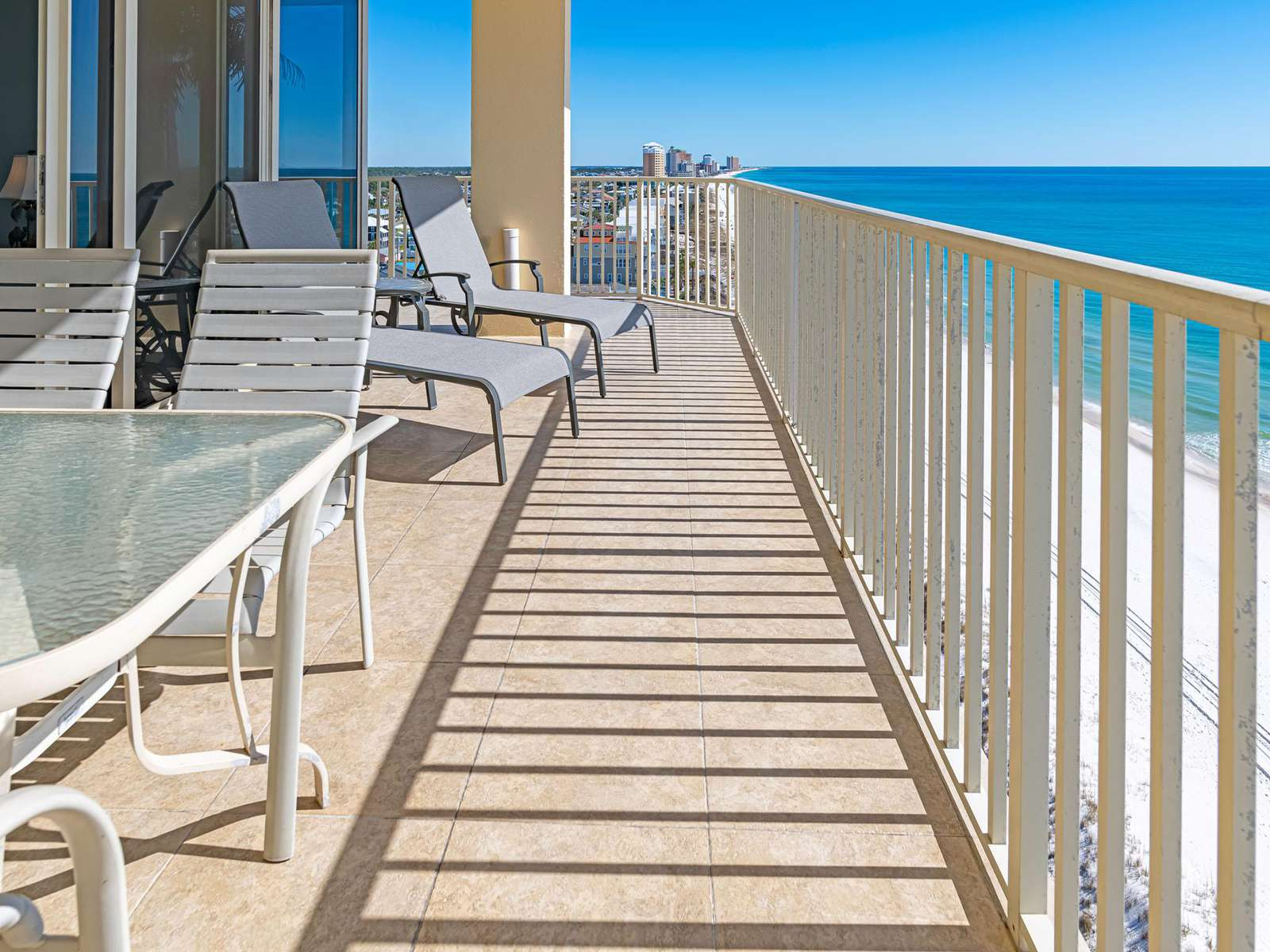 Relax on your LARGE private balcony!