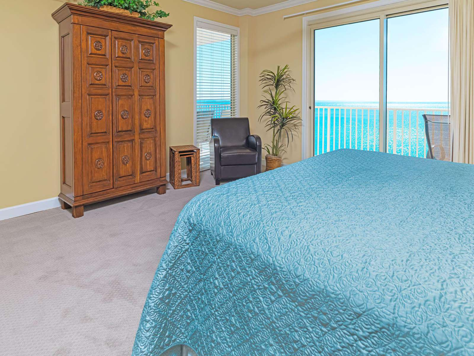 Great views from your spacious private master!