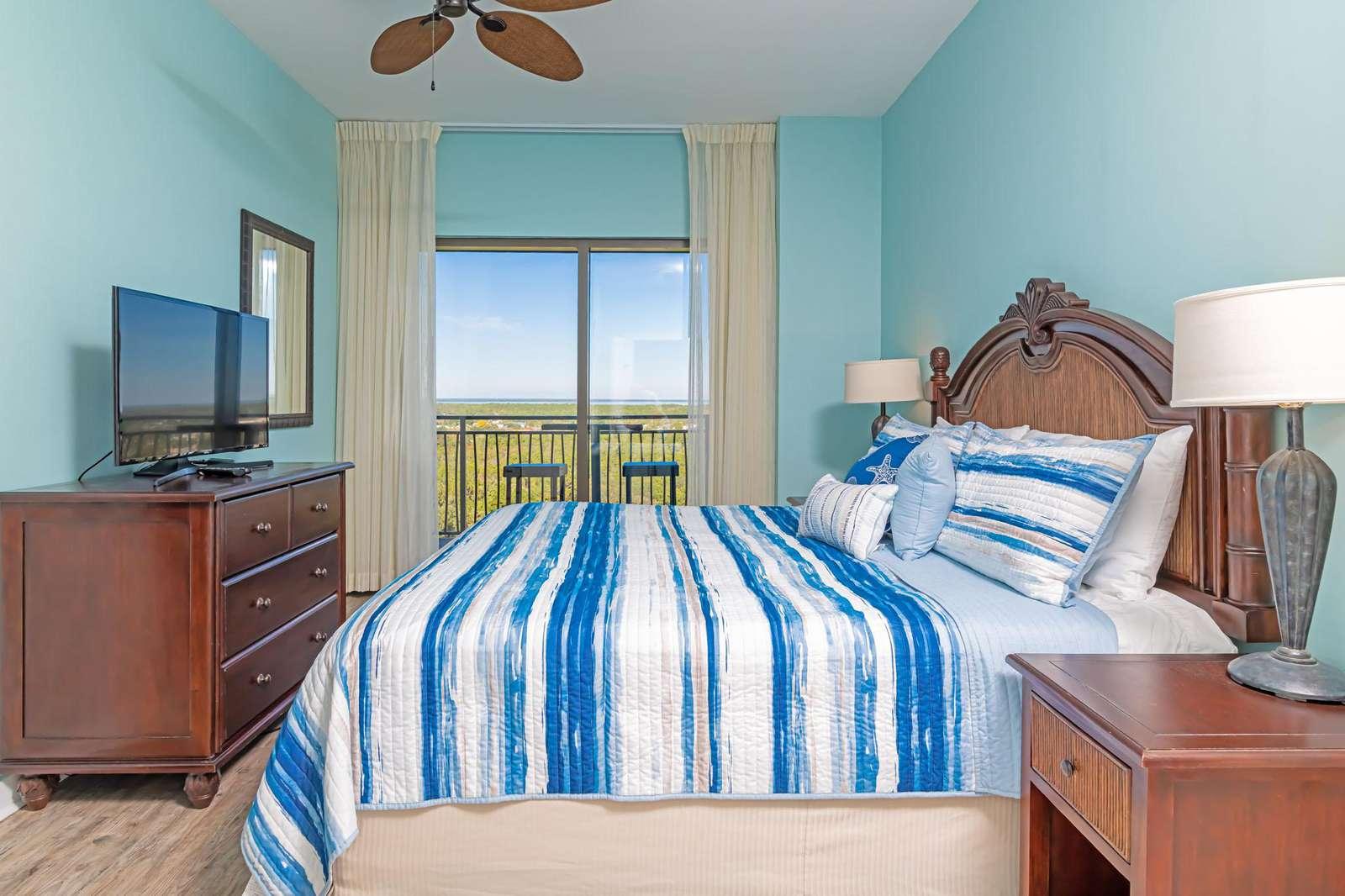 Tastefully decorated master bedroom!