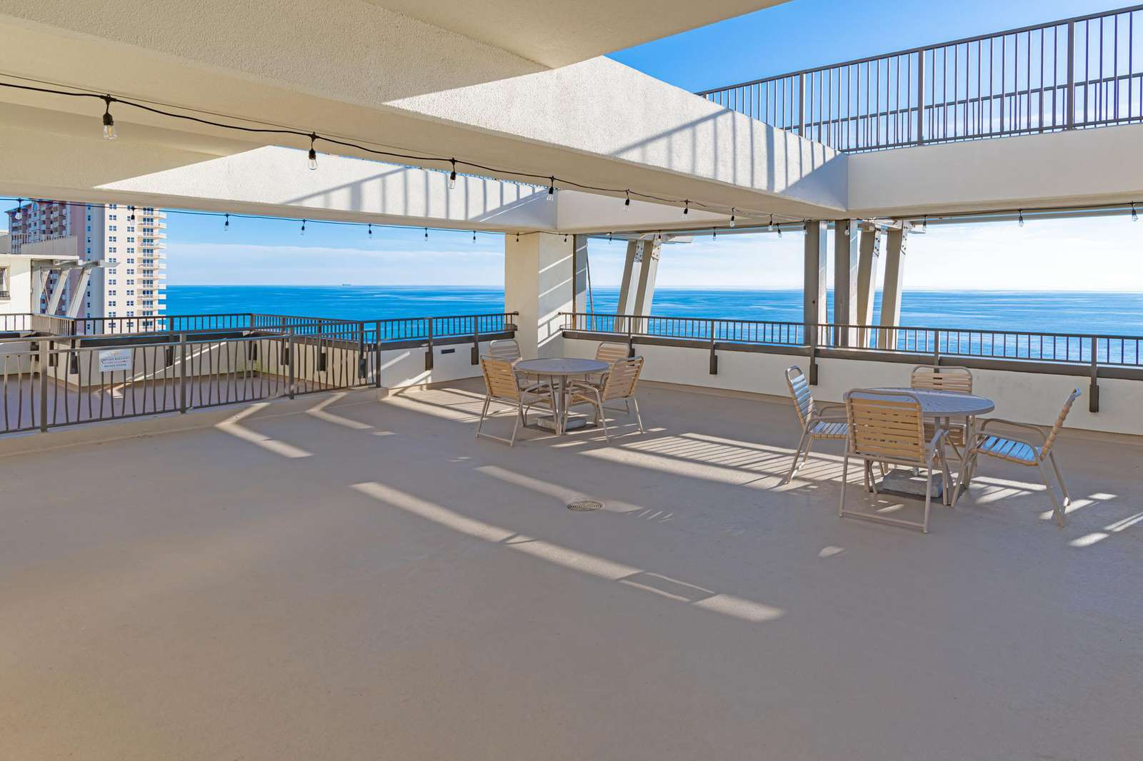 The sun deck offers grilling and views!