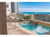 Nice size hot tub overlooking the Gulf! thumb