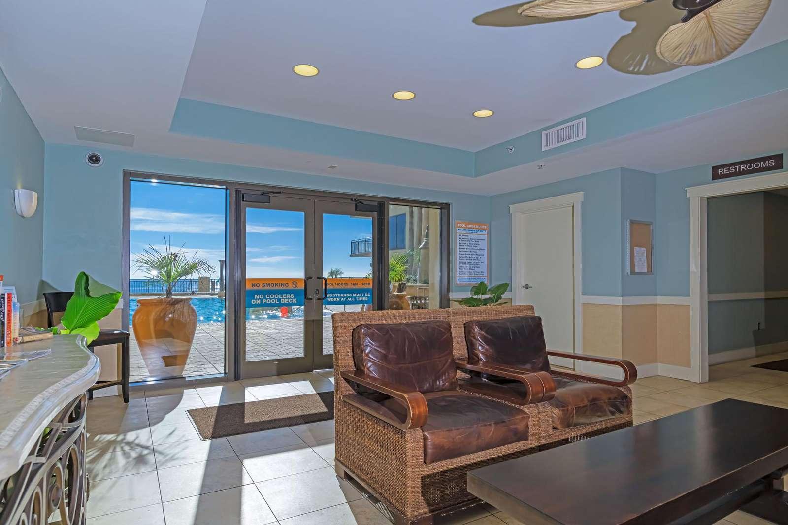 Nice lobby areas with comfy furnishings!