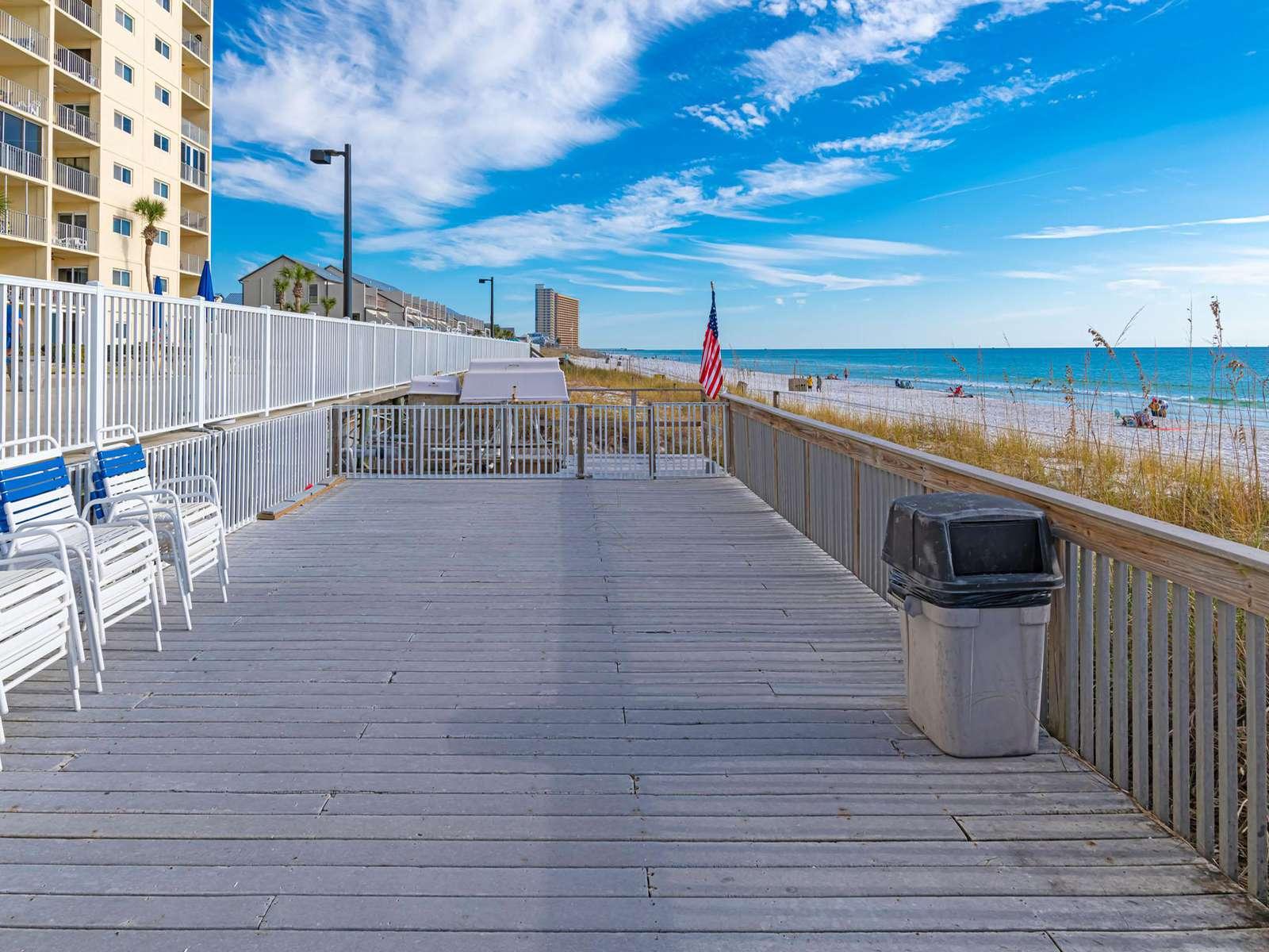 Regency Towers boardwalk for activities!