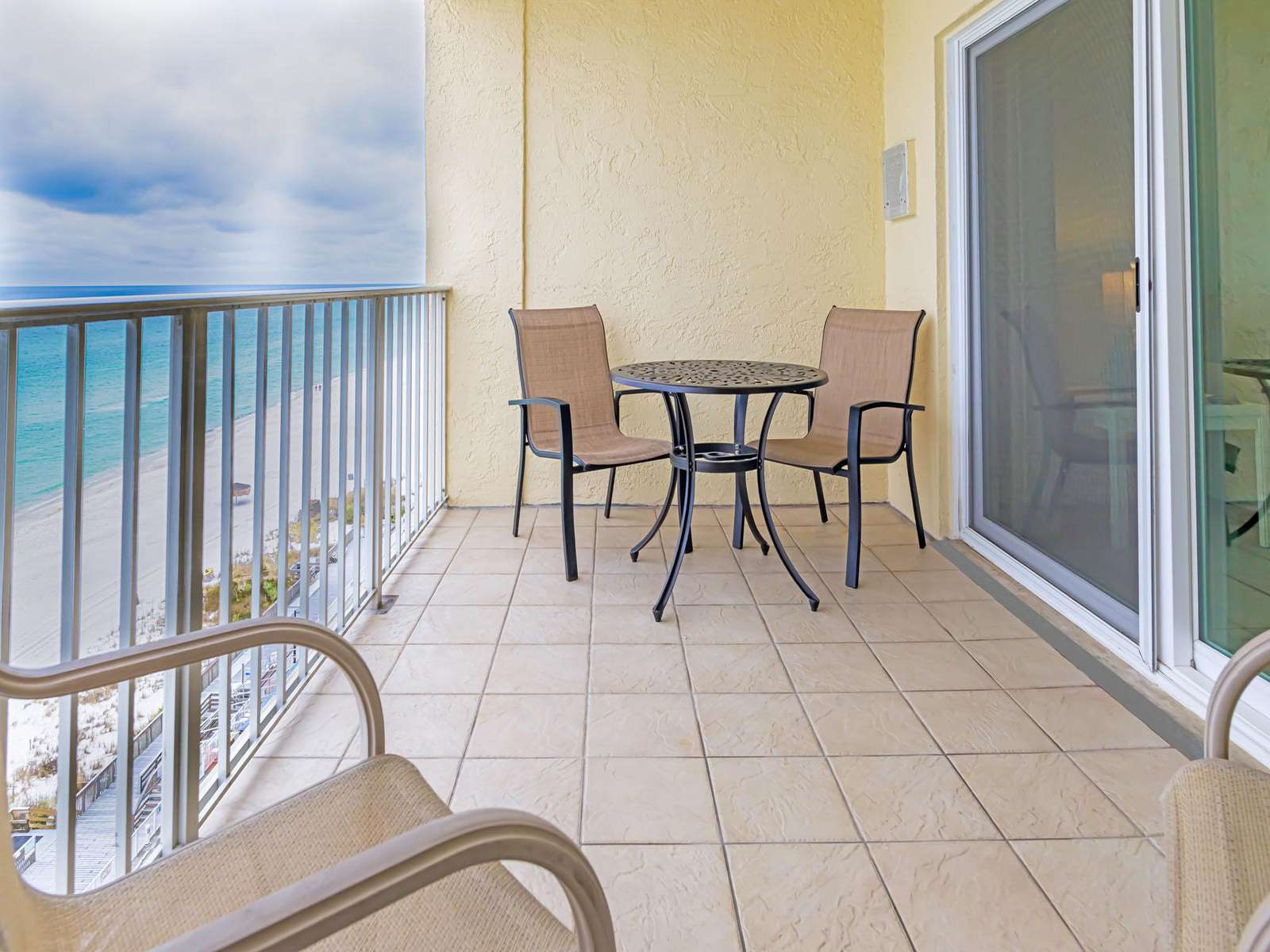Your own private balcony on the 10th floor!