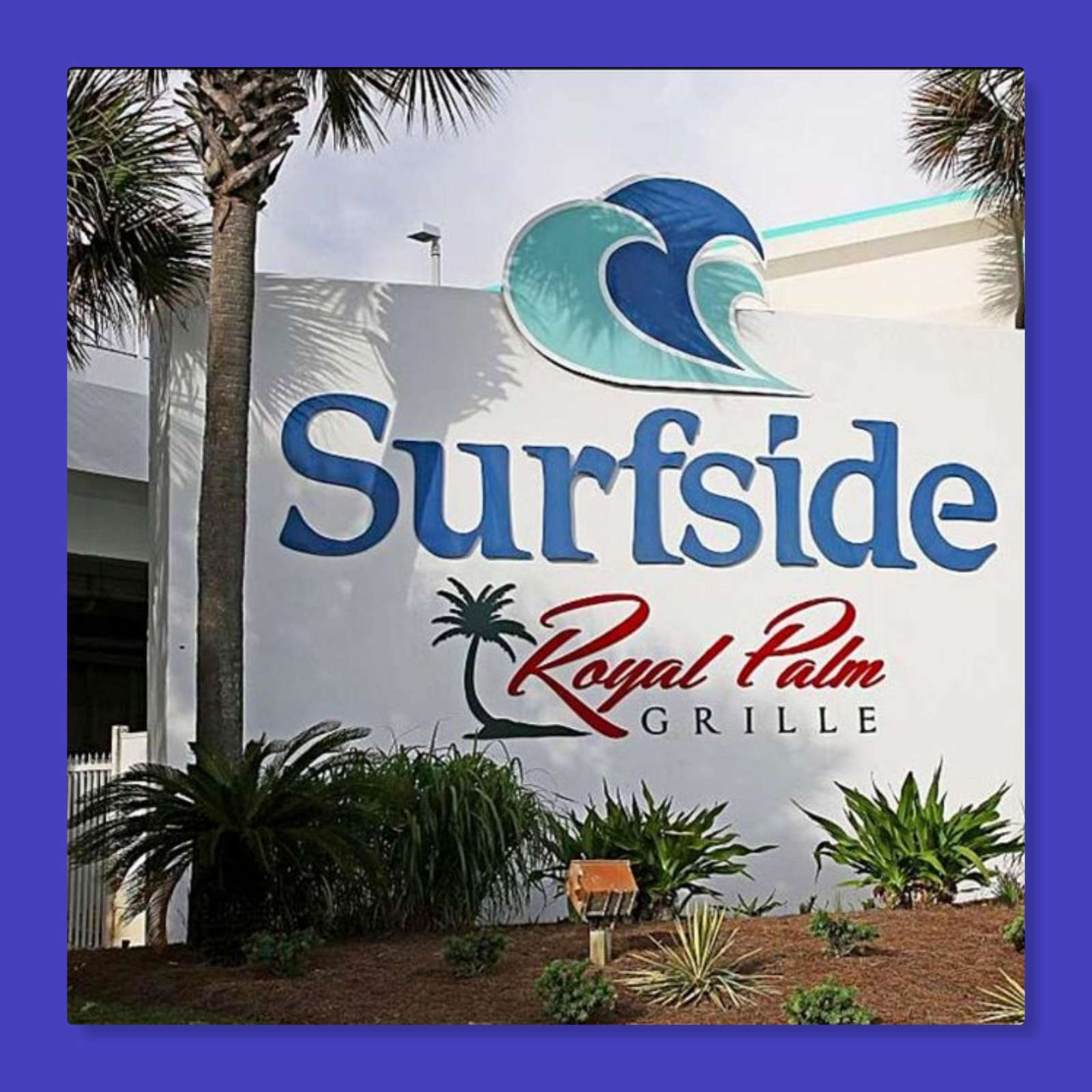 Surfside's restaurant- Royal Palm Grille has a huge outside deck for enjoying your meal while looking over the ocean