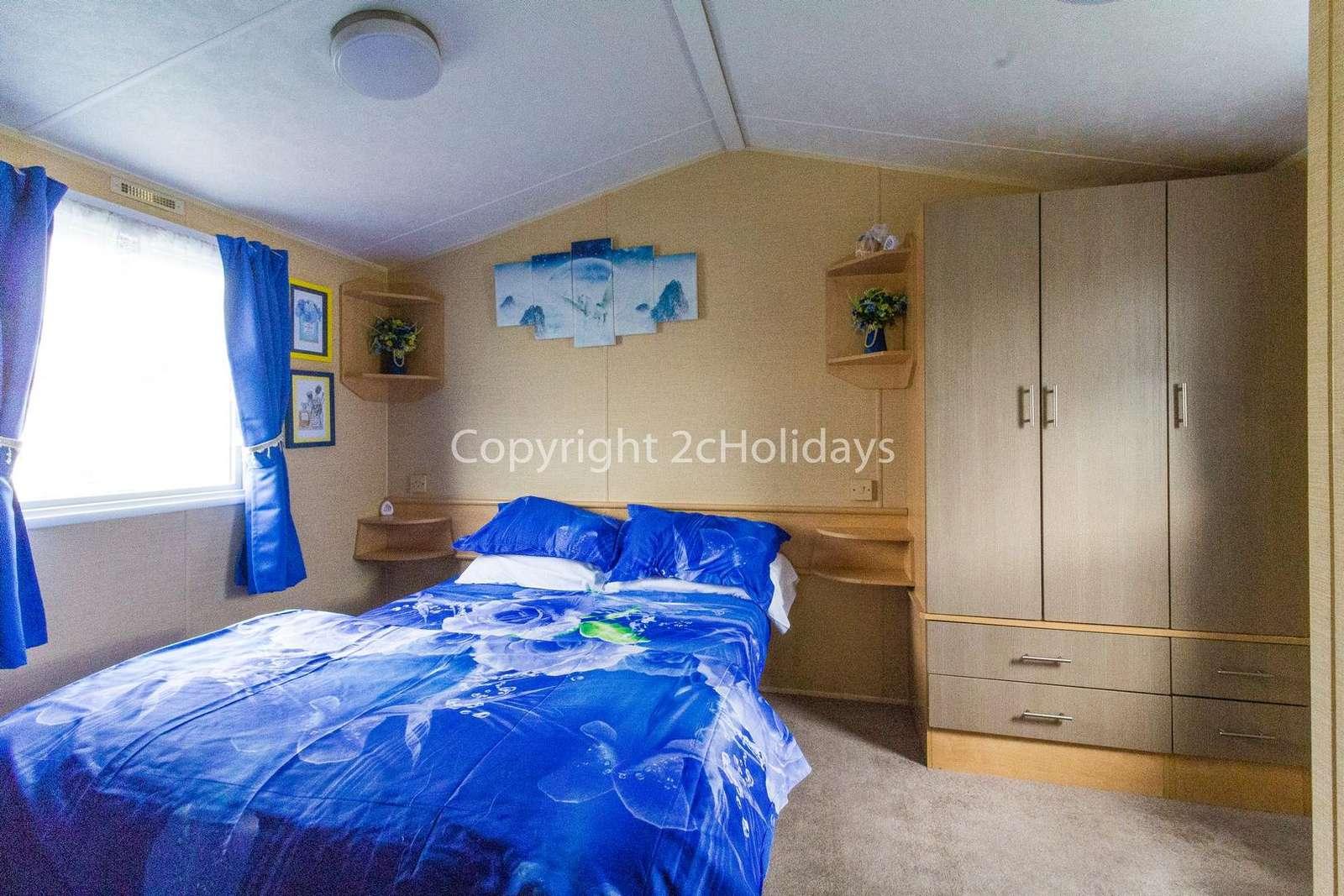 Spacious master bedroom with plenty of storage space