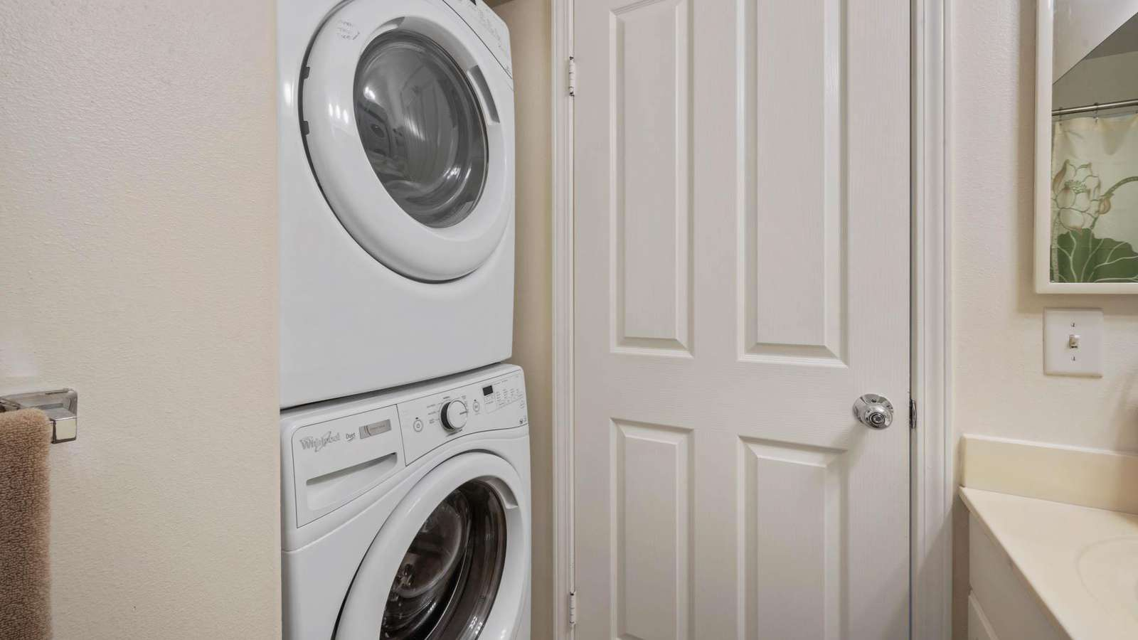 Full size washer & dryer.