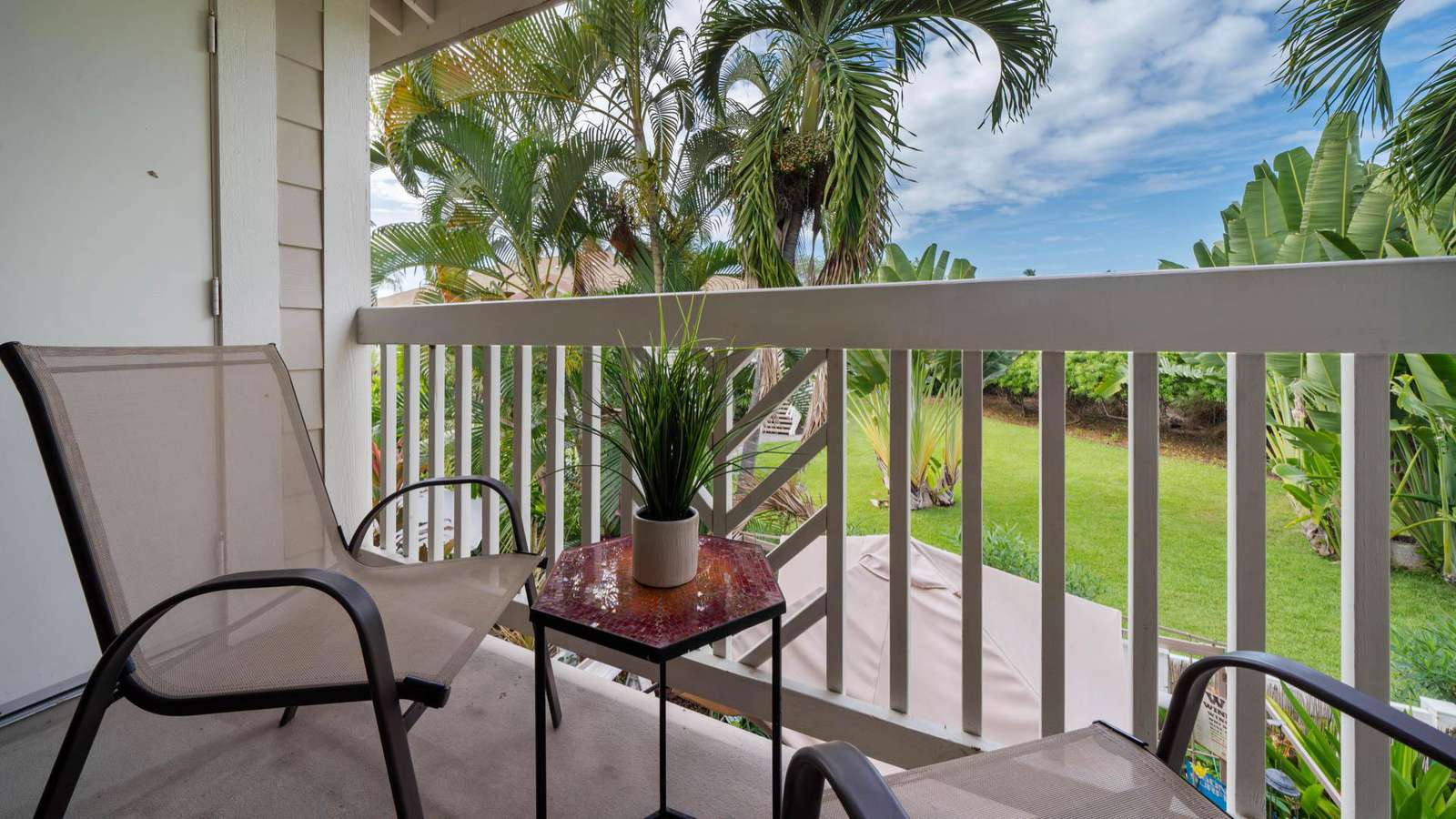 Relax on the lanai and enjoy the view.