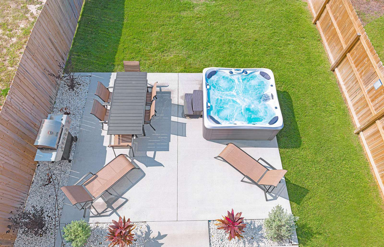Recently updated backyard space is spacious and private!
