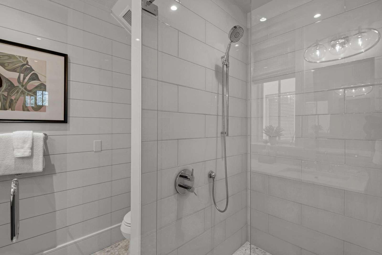 First floor master shower