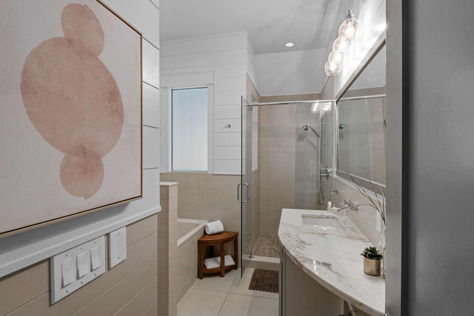 Second floor master bath w/walk-in shower