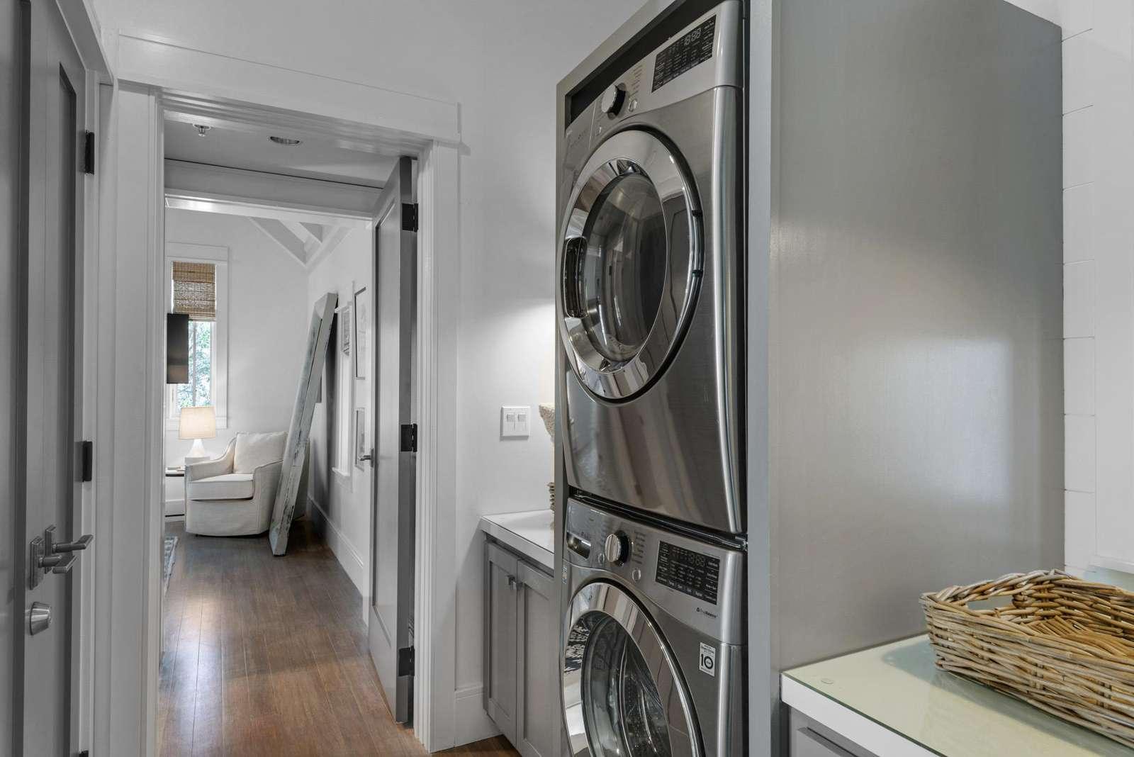 Washer dryer second floor