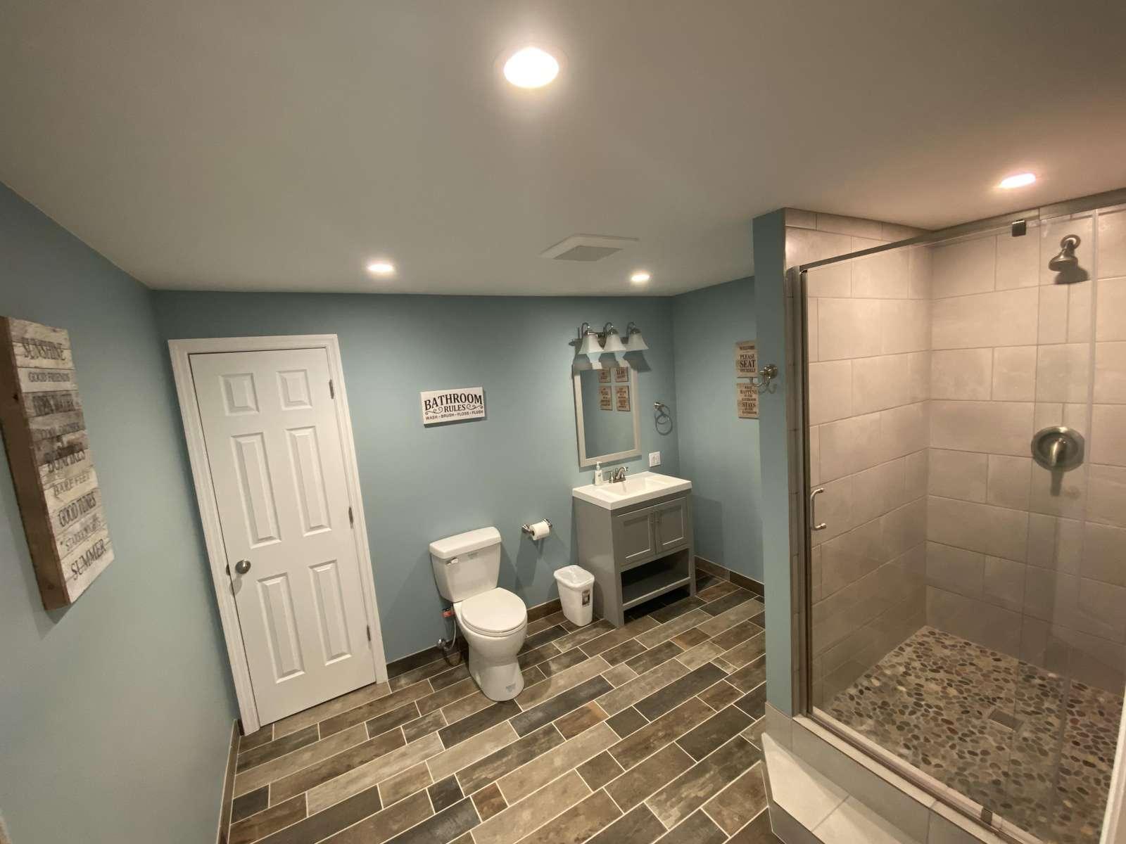 4th Bathroom, lower level