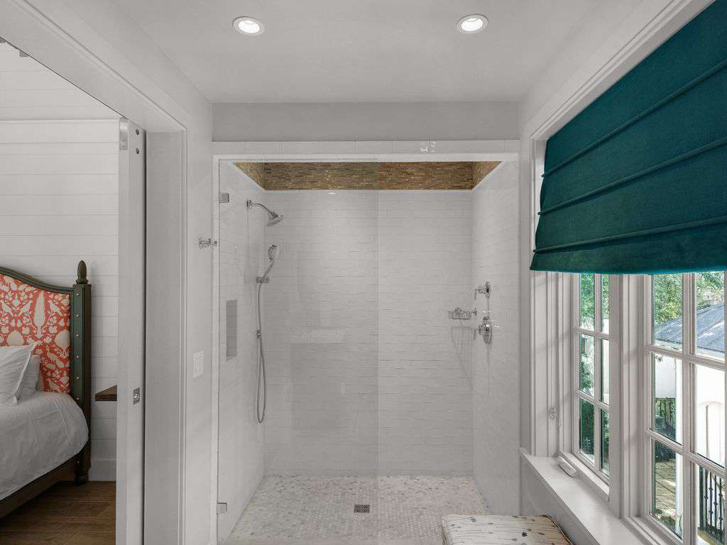 Larger walk-in shower  carriage house