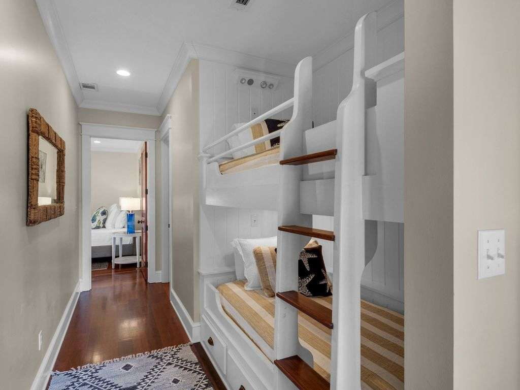 Bunk area with two beds