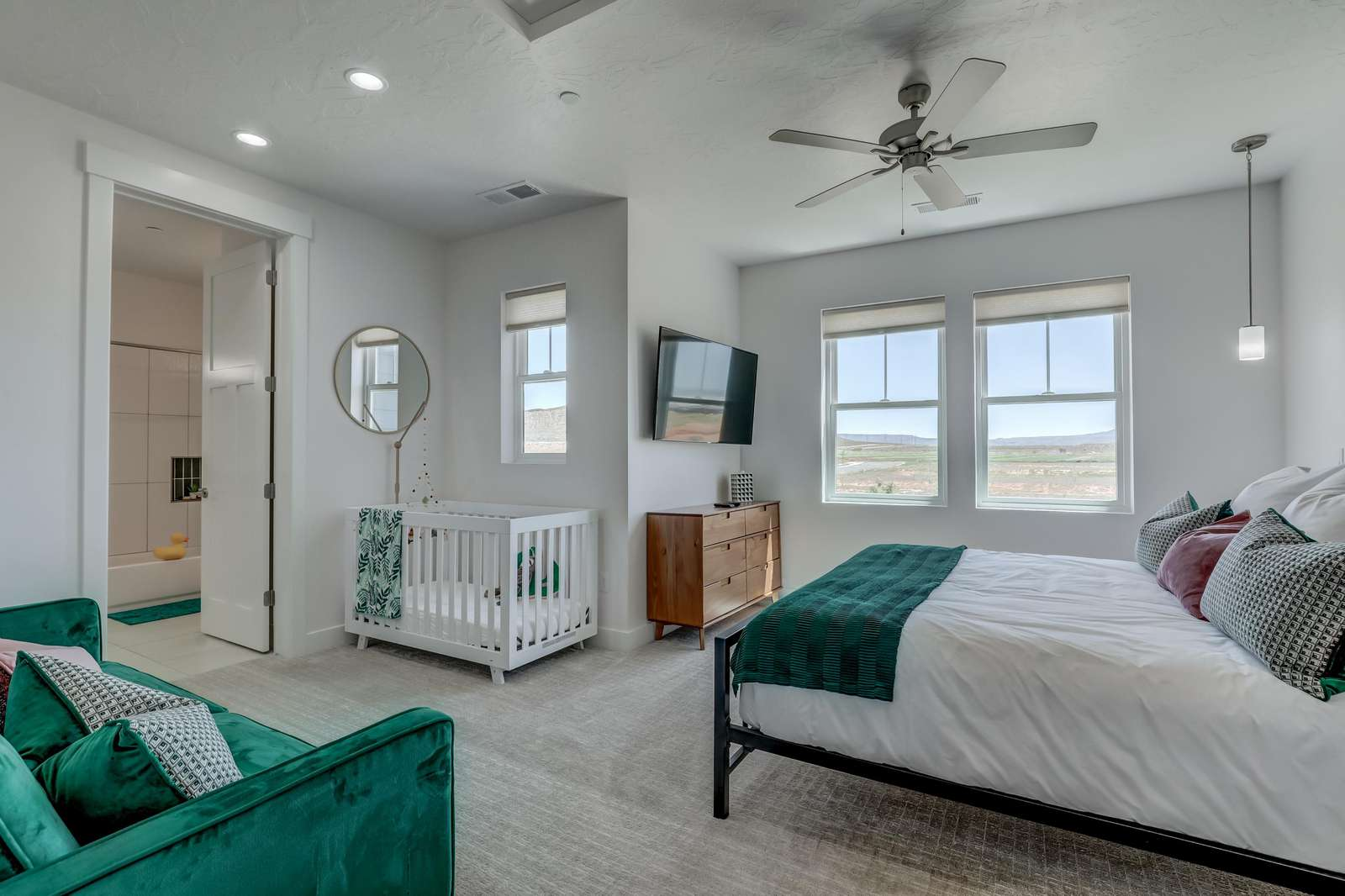 Turquoise Baby room