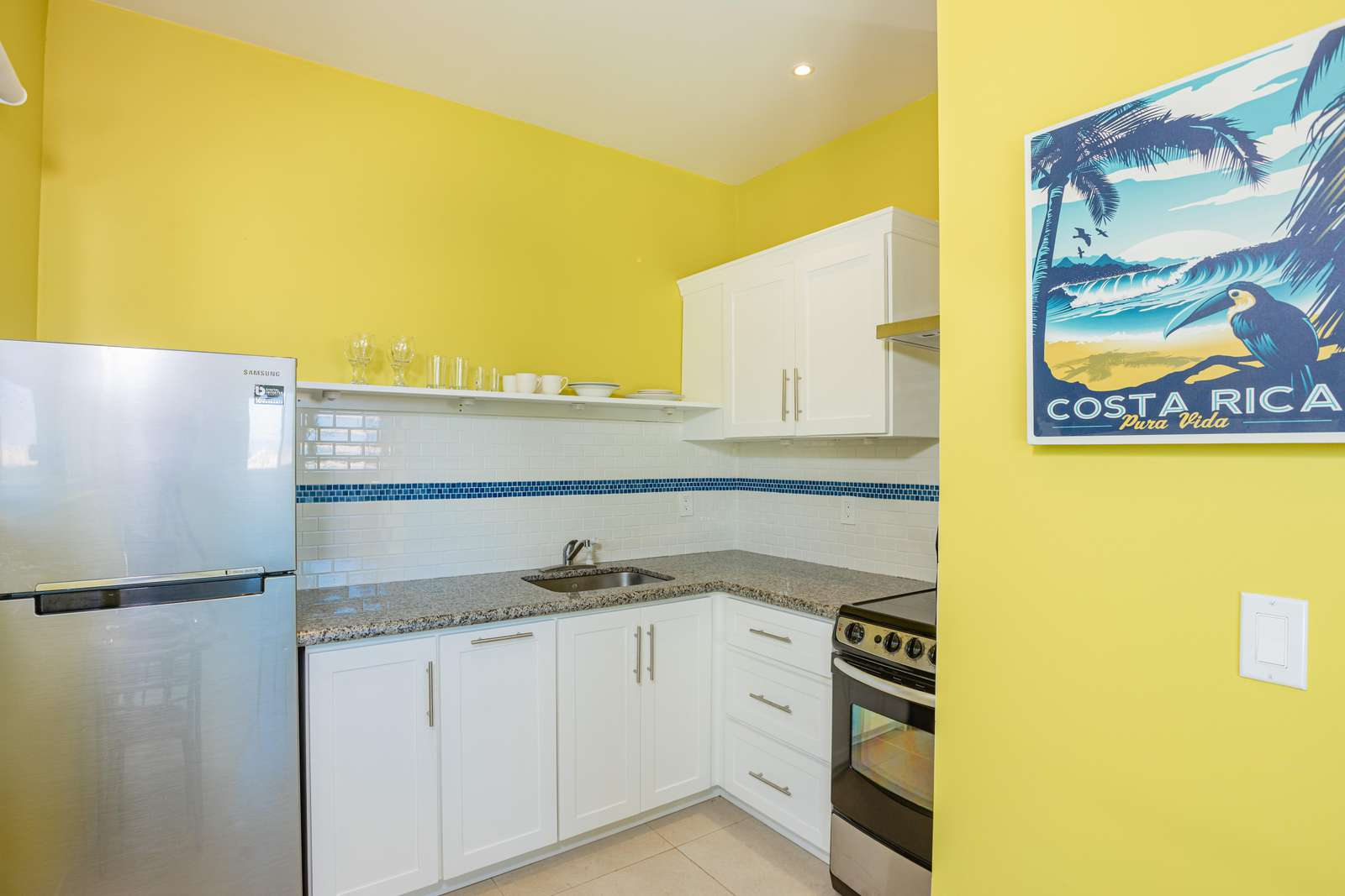 Kitchen area inside the guest casita