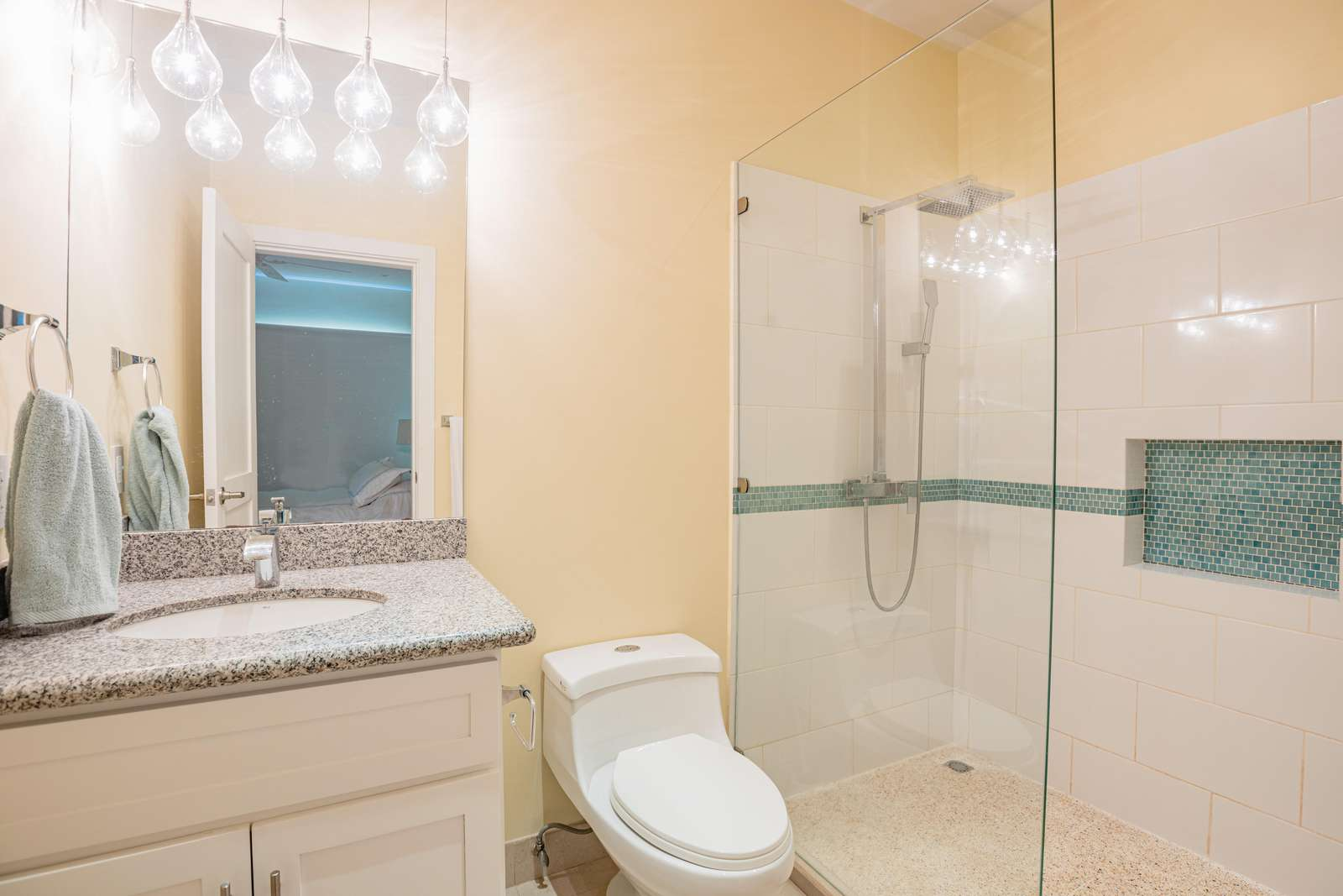 Master bathroom, walk in shower