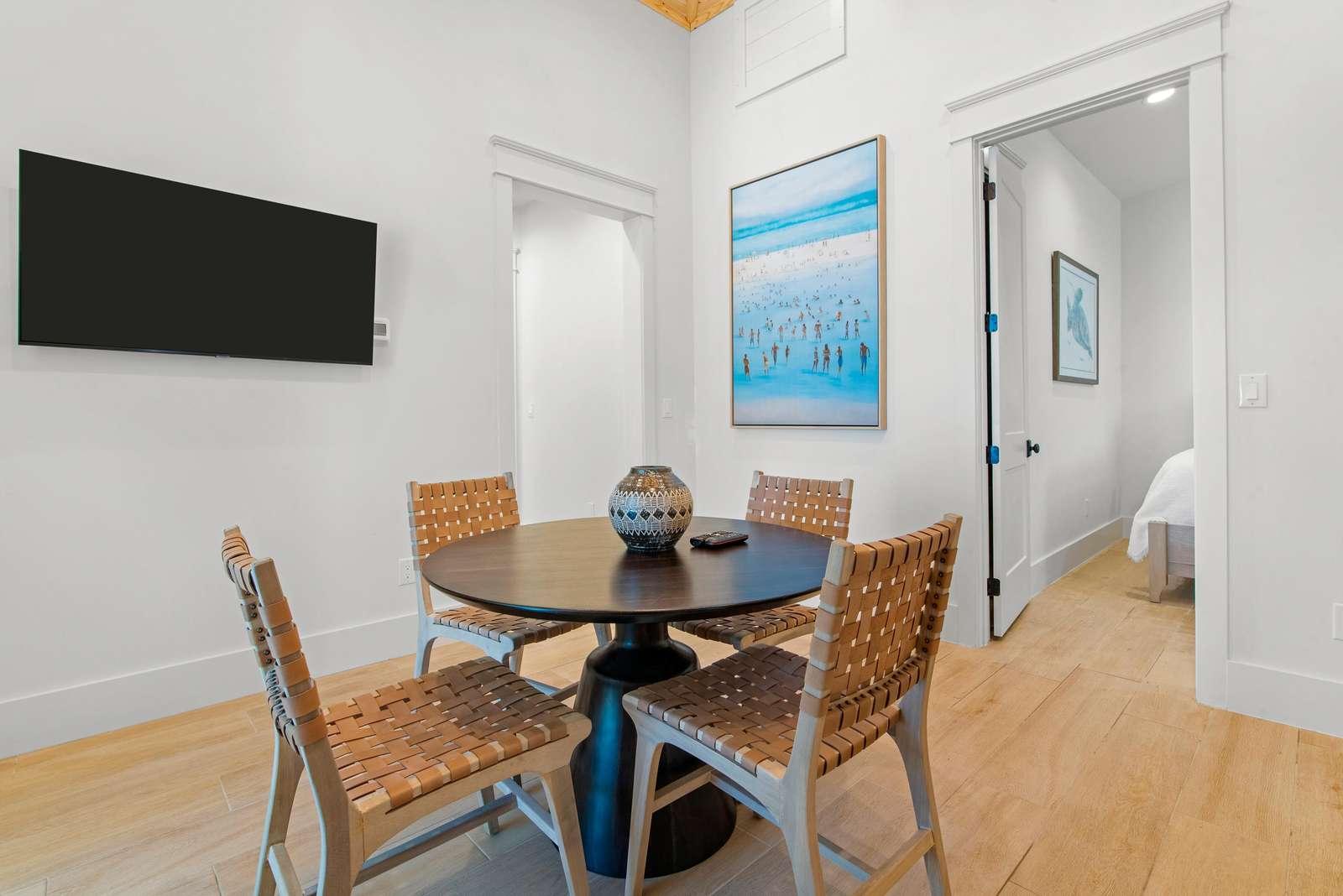 3rd Floor Sitting Area w/ 55 inch Smart TV.