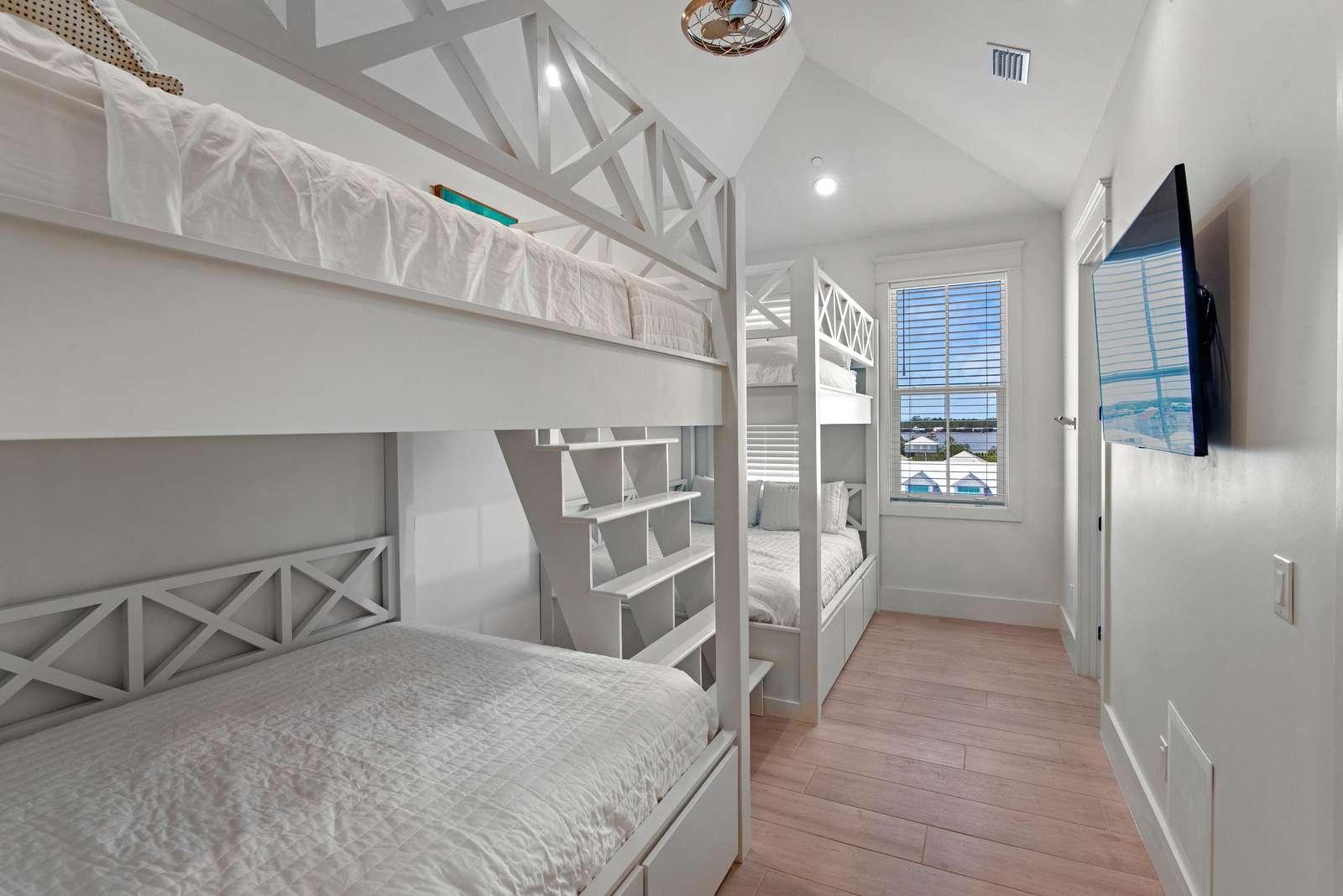 Bedroom 11 w/ 2 sets of Queen over Queen Bunks. Sleeps 8
