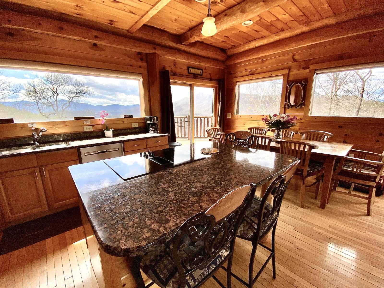 Picture Windows surround your Chef's Kitchen