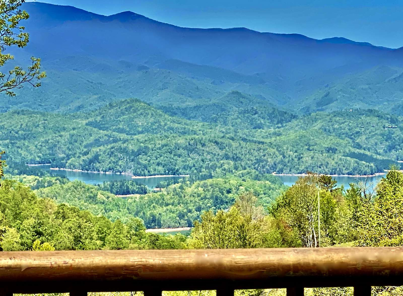 Views of the Smokies and Fontana Lake from this Deck