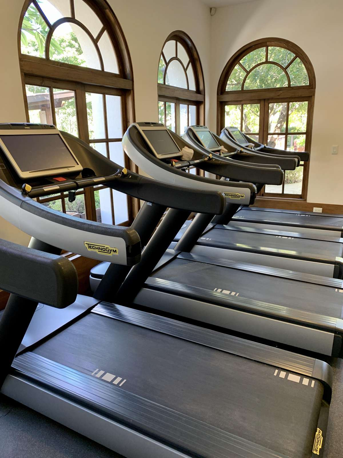 The gym at the beach club