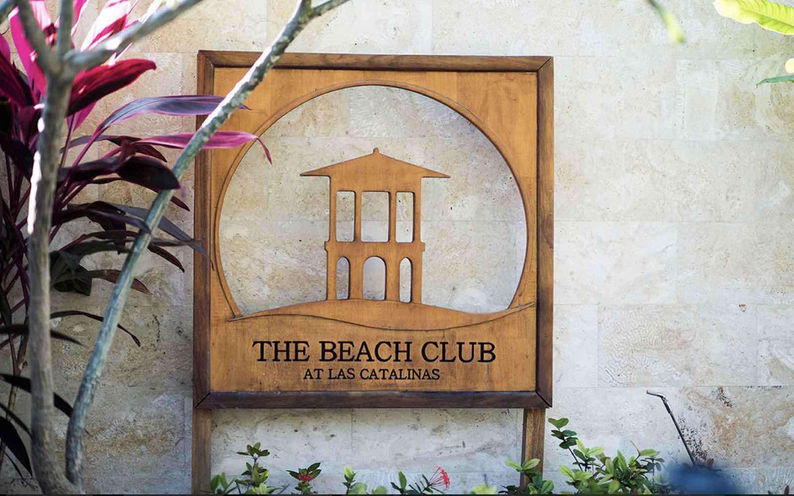Beach club at Las Catalinas