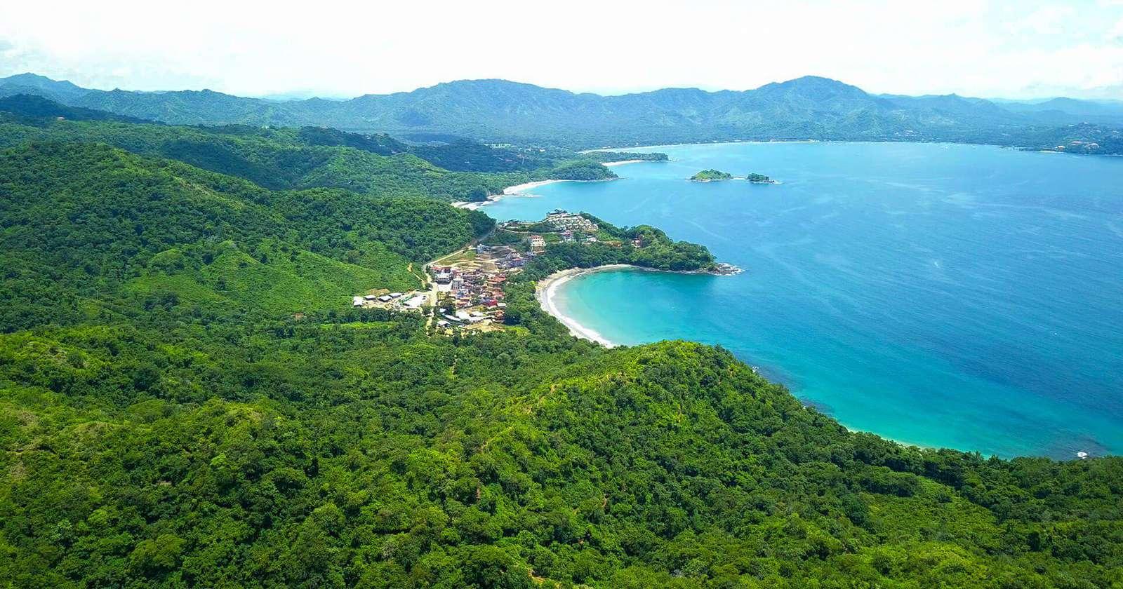 Aerial view of Playa Danta