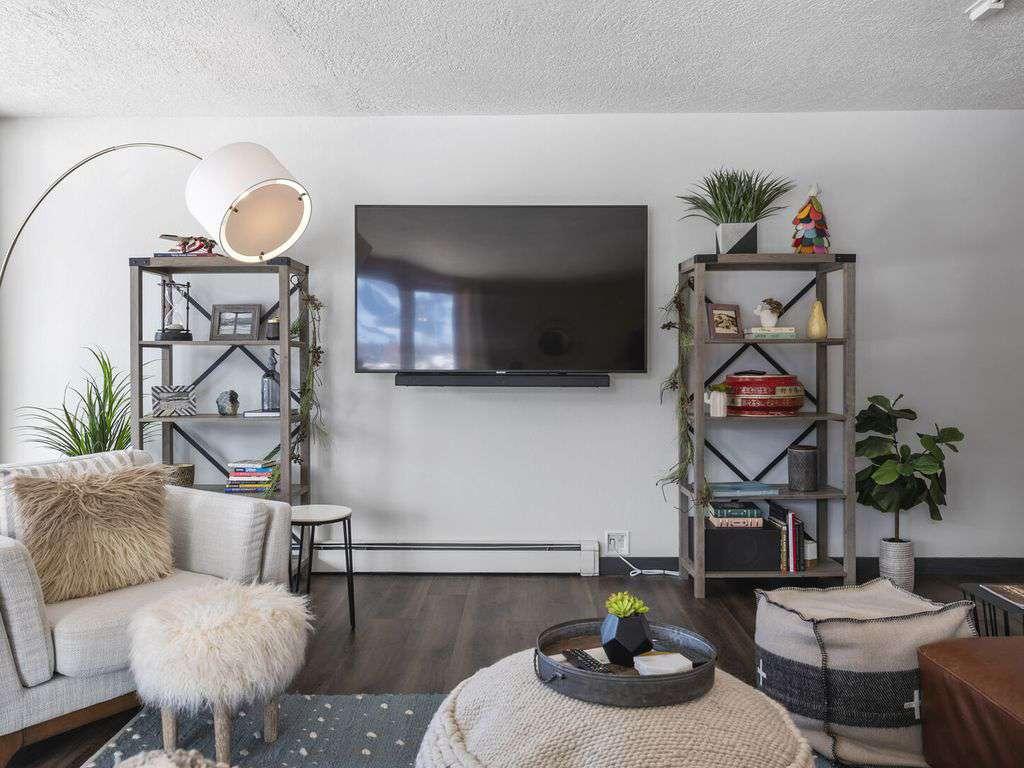 Stylish comfortable furnishings and smart TV's