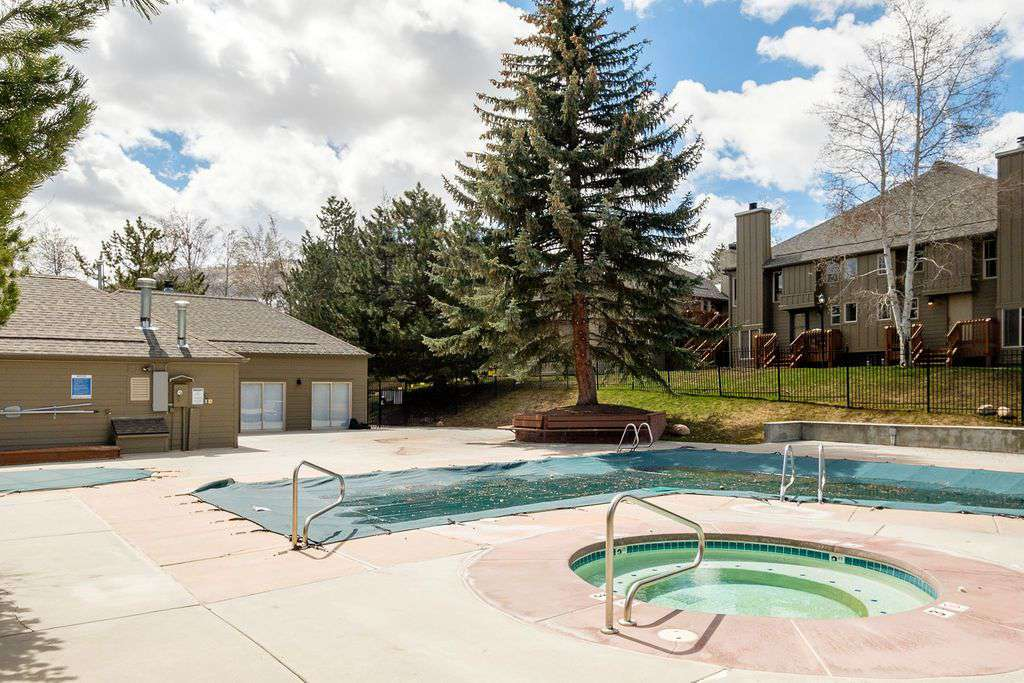Condominium community pool and hot tub