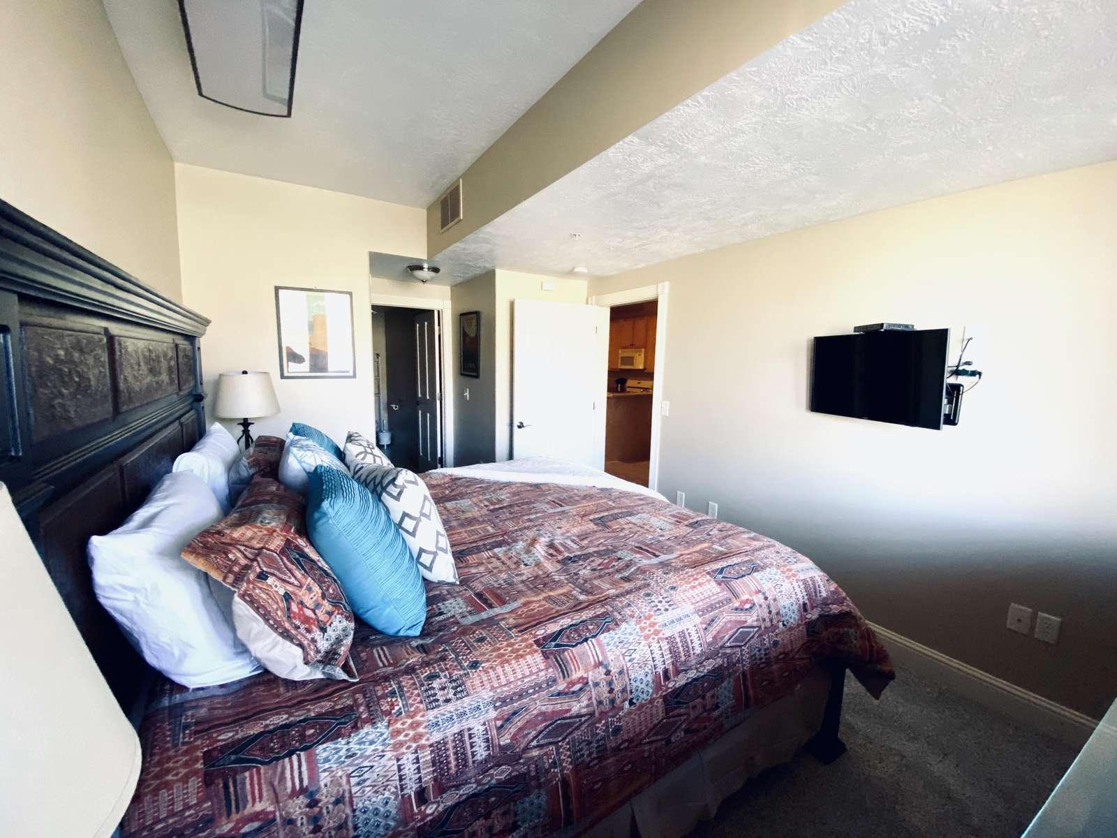 Second TV  in bedroom