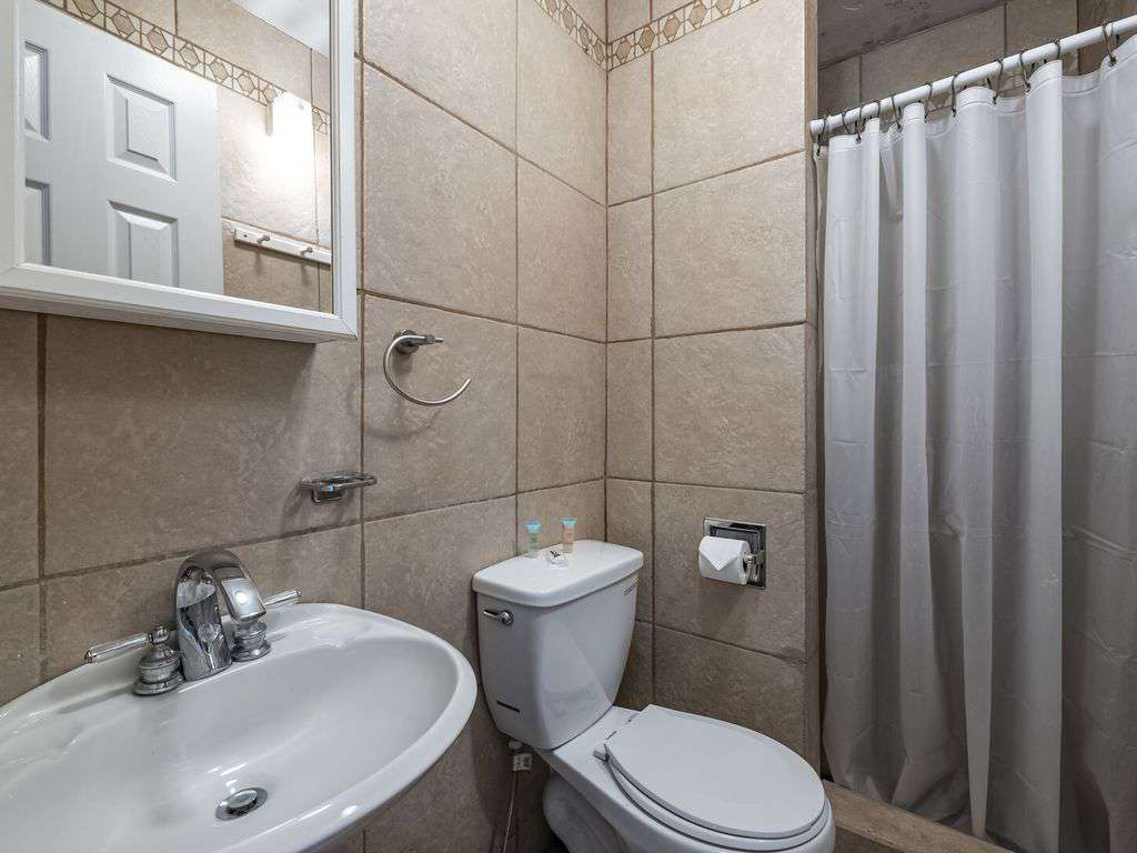 Hall bathroom with shower