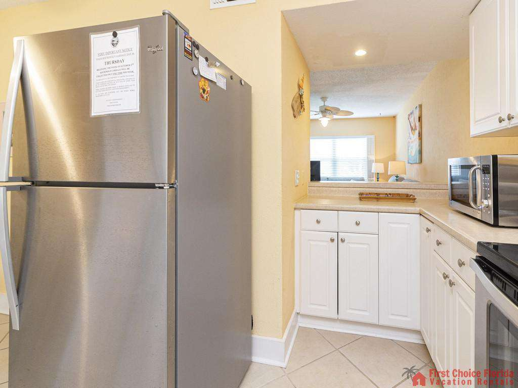 Coastal Cottage A Kitchen with Refrigerator