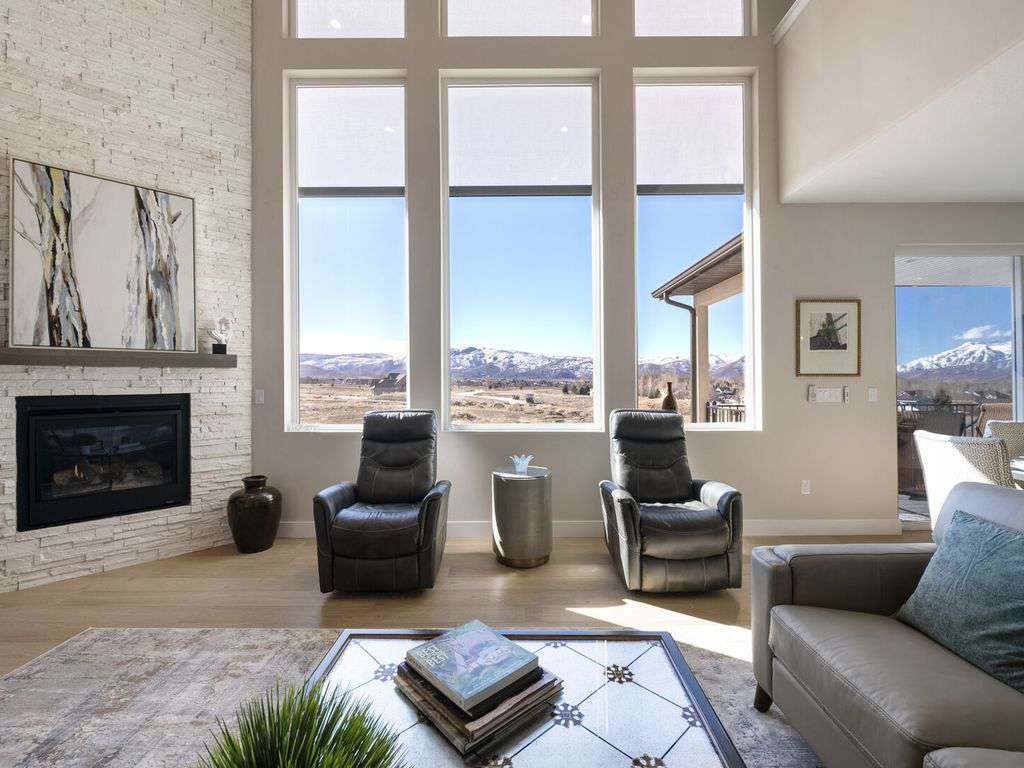Views of the Wasatch mountain range and Heber Valley