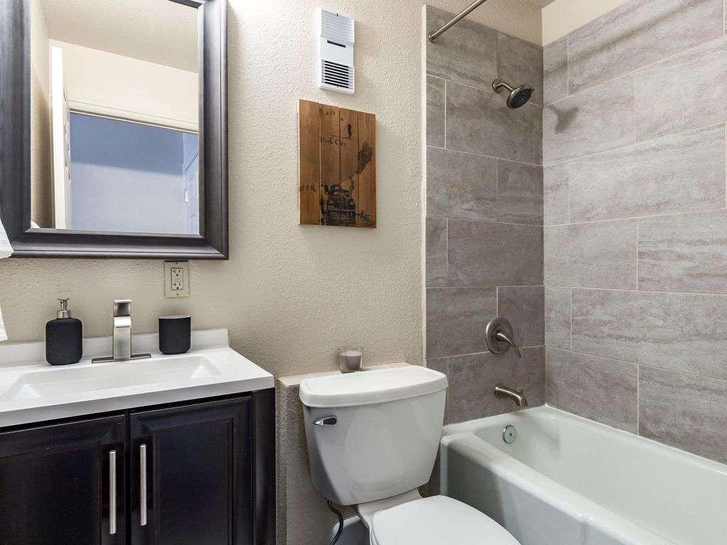 En suite bathroom freshly updated