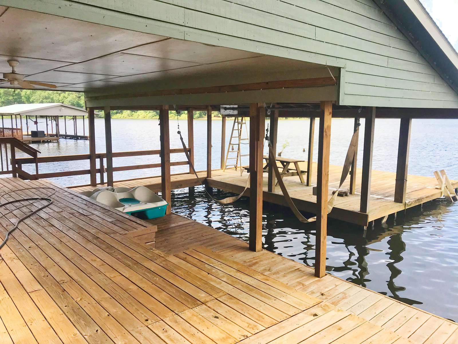 We are currently working on the dock and will have it done prior to Memorial weekend.