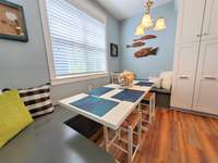 Dining table with bench seating - Seats 6 thumb