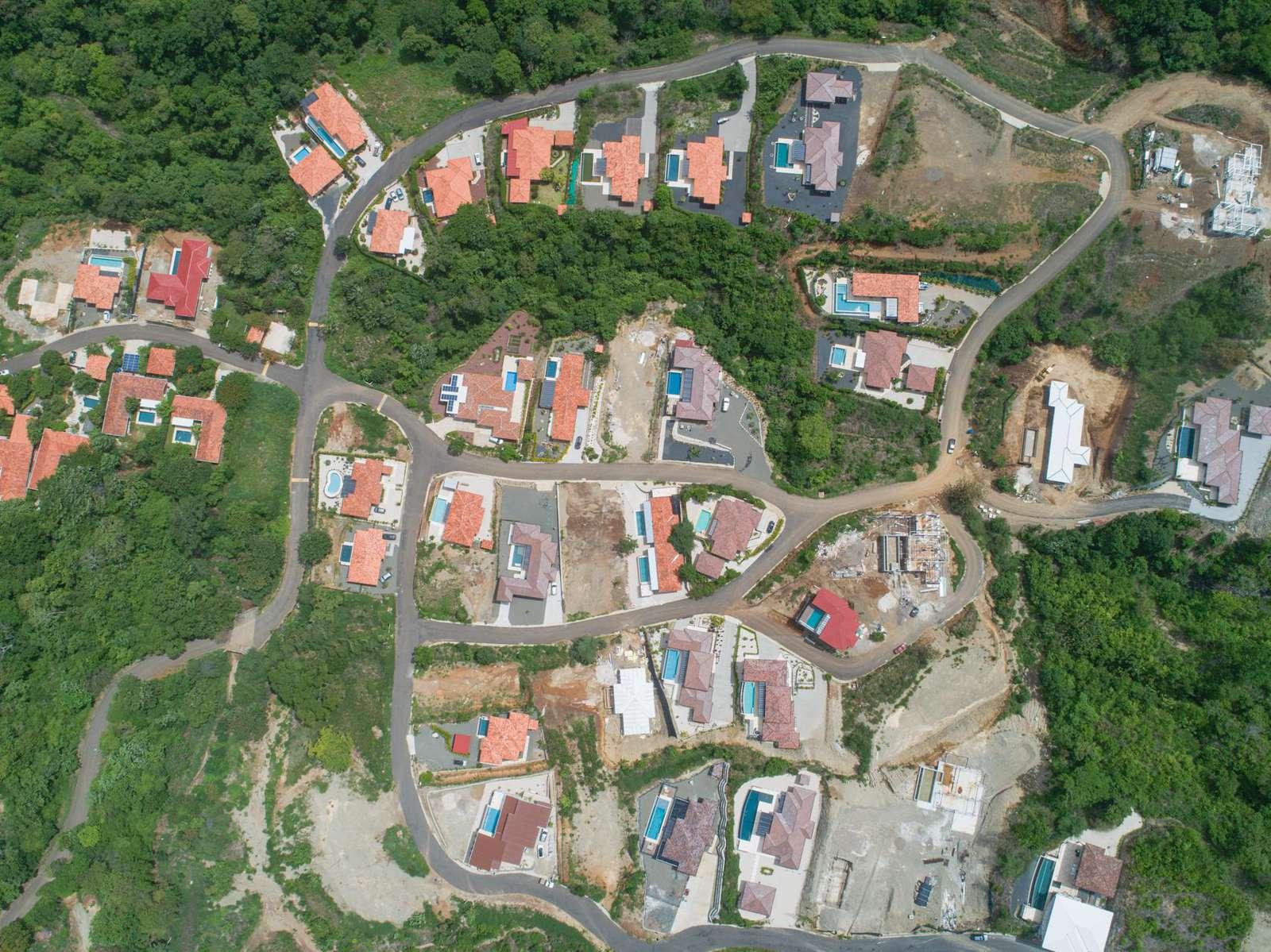 Aerial view of Dos Rios at Mar vista